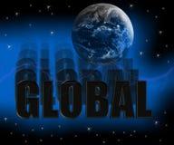 globalne 3 d royalty ilustracja