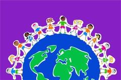 globalne dzieci Fotografia Stock