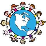 globalne dzieci Fotografia Royalty Free