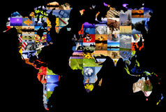 globalne kolaż Fotografia Stock