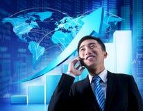 Globalne komunikacje biznesowe z Infographic Zdjęcia Stock