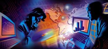 globalne komunikacji Ilustracja Wektor