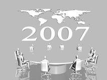 globalne mapa świata biznesu Obraz Royalty Free