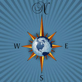 globalne obrazkowy kompas royalty ilustracja