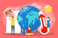 globalne ocieplenie poj?cia Pomysł zmiana klimatu ilustracji