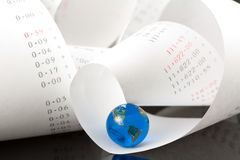 globalne rachunkowości Zdjęcie Stock