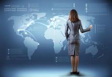 Globalne technologie Obrazy Royalty Free