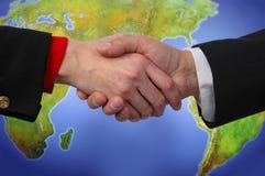 globalne uścisk dłoni Fotografia Stock