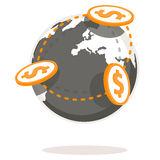 Globalne zapłaty Zdjęcia Stock