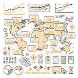 Globalnego biznesu doodle pojęcie Obraz Stock