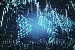 Globalnego biznesu i handlu t?o ilustracji