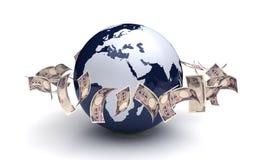 Globalnego biznesu Japoński jen Fotografia Royalty Free