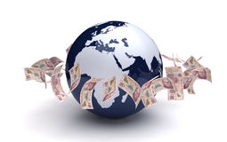 Globalnego biznesu Meksykańscy peso Obrazy Royalty Free