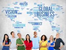 Globalnego biznesu pojęcia Światowi Handlowi ludzie biznesu Zdjęcia Stock