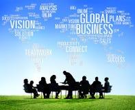 Globalnego biznesu pojęcia Światowi Handlowi ludzie biznesu Zdjęcia Royalty Free