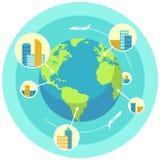 Globalnego biznesu projekta pojęcie Obrazy Royalty Free