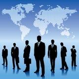 Globalnego biznesu tło z biznesmen drużyną, Obrazy Stock