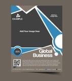 Globalnego biznesu ulotki projekt Zdjęcia Royalty Free