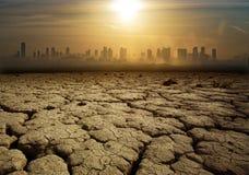 Globalnego nagrzania i zanieczyszczenia temat obraz royalty free