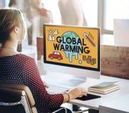 Globalnego nagrzania klimatu przemysłu Środowiskowy pojęcie Obrazy Royalty Free