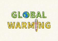 Globalnego nagrzania wektoru ilustracja ilustracji