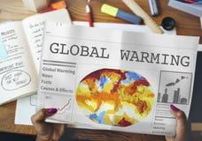 Globalnego nagrzania zanieczyszczenia Szklarnianego skutka pojęcie Zdjęcie Stock