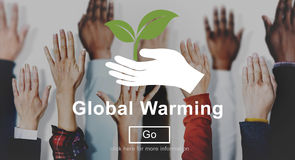 Globalnego nagrzania zmiany klimatu strony internetowej Środowiskowy pojęcie Zdjęcia Stock