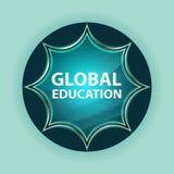 Globalnej edukacji guzika nieba błękita magiczny szklisty sunburst błękitny tło royalty ilustracja