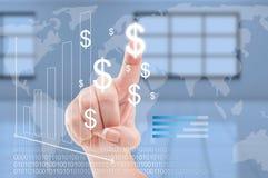 Globalnej gospodarki lub dolara curency zamiany na całym świecie pojęcie Fotografia Royalty Free