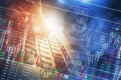 Globalnej gospodarki wskaźniki Fotografia Stock