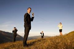 Globalnej komunikaci Biznesowy Halny pojęcie Fotografia Royalty Free