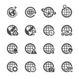 Globalnej komunikaci ikona ustawia 2, wektor eps10 ilustracja wektor