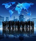 Globalnej komunikaci Korporacyjnego Fachowego miasta ludzie biznesu Obrazy Stock