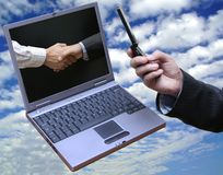 globalnej komunikacji Fotografia Stock