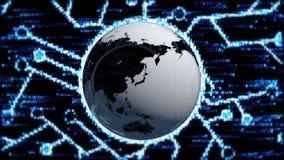 Globalnej sieci świat Pojęcie internet po całym świat ilustracja wektor