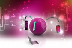 Globalnej sieci i interneta komunikaci pojęcie Fotografia Stock