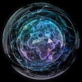 Globalnej sieci interneta technologie Cyfrowej światowa mapa obraz royalty free