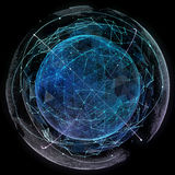 Globalnej sieci interneta technologie Cyfrowej światowa mapa Fotografia Stock