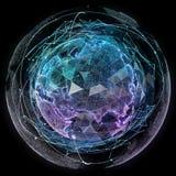 Globalnej sieci interneta technologie Cyfrowej światowa mapa Obrazy Royalty Free