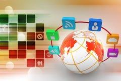 Globalnej sieci pojęcie ilustracji