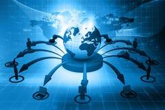 Globalnej sieci pojęcie Fotografia Stock