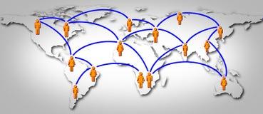 globalnej sieci socjalny świat Obrazy Royalty Free