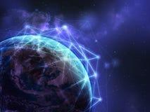 Globalnej sieci tło Zdjęcia Royalty Free
