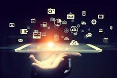 Globalnej sieci związek Mieszani środki Fotografia Stock
