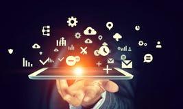 Globalnej sieci związek Mieszani środki Zdjęcie Stock