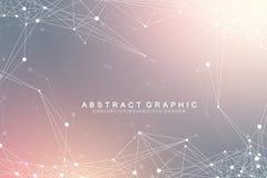 Globalnej sieci związek Sieć i duży dane unaocznienia tło Futurystyczny globalny biznes wektor ilustracja wektor
