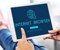 Globalnej sieci związku technologii pojęcie Zdjęcia Stock
