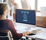Globalnej sieci związku technologii pojęcie Fotografia Royalty Free