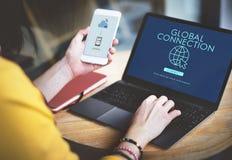 Globalnej sieci związku technologii pojęcie Obrazy Royalty Free