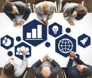 Globalnej strategii biznesowej ikony Planistyczny pojęcie Obrazy Stock